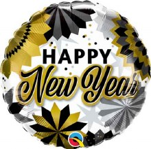 Happy New Year Gold Fans ~ 18""