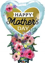 "Jumbo Happy Mother's Day Heart Bouquet ~ 38"""