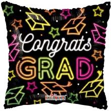 "Neon Congrats Grad ~ 18"""
