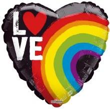 MYLR Love Pride Heart 18in