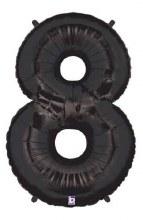 """40"""" Megaloon Black Number 8"""