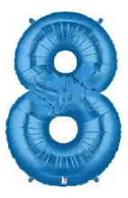 "40"" Megaloon Blue Number 8"