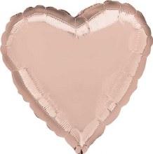 MYLR Heart SN RoseGold 17in