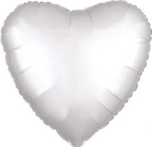 MYLR Heart WH Satin 17in