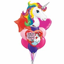 Balloon Bouquet Magical Unicorn Love