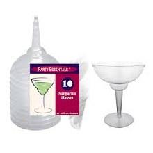 Margarita Glass Plastic Clear 10ct