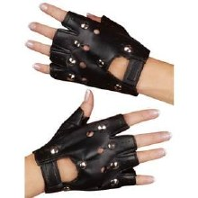 Gloves Biker Fingerless Studs