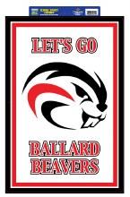 "Ballard Beavers Sign 20""x 14"""