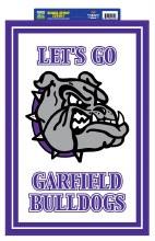 """Garfield Bulldogs Sign 20""""x 14"""""""