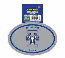 Ingraham Rams Peel'n'Place Oval Sticker