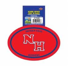 Nathan Hale Raiders Peel'n'Place Oval Sticker
