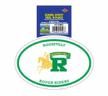 Roosevelt Rough Riders Peel'n'Place Oval Sticker
