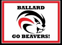 """Ballard Beavers Yard Sign 15.5"""" x 11.5"""""""