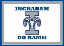 """Ingraham Rams Yard Sign 15.5"""" x 11.5"""""""