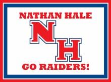 "Nathan Hale Raiders Yard Sign 15.5"" x 11.5"""