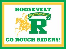 """Roosevelt Rough Riders Yard Sign 15.5"""" x 11.5"""""""
