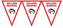 Ballard Beavers Pennant Banner 7.4ft x 11in