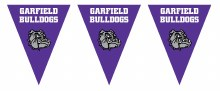 Garfield Bulldogs Pennant Banner 7.4ft x 11in