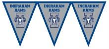 Ingraham Rams Pennant Banner 7.4ft x 11in