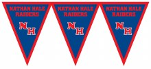 Nathan Hale Raiders Pennant Banner 7.4ft x 11in