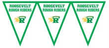 Roosevelt Rough Riders Pennant Banner 7.4ft x 11in