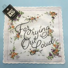 Crying Out Loud Handkerchief ~ Mustard & Lilac Flowers