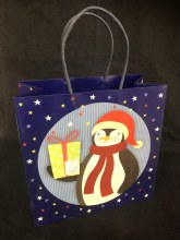 Christmas Penguin Gift Bag