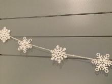 Snowflake Garland Wood 5ft