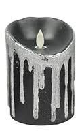 Candle Black Faux Flame LED