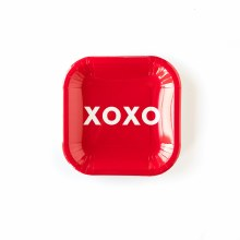 """Valentines Day XOXO 7"""" Plate 12ct"""