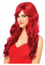 Wig Long Wavy Red