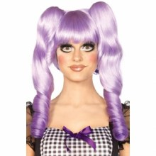 Wig Dolly Bob w/ Clips Lavende