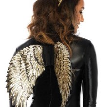 Wings Sequin Gold