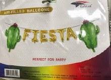 """AirFill Fiesta ~ 16"""" Gold Letter Banner Kit"""