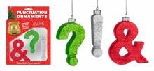 Puncutuation Ornaments ~ 3 Pack