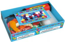 "Balloon Drop Kit - Includes Drop Bag, Hand Pump & 72 9"" Balloons in a Rainbow Assortment"