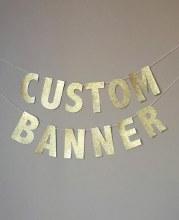 Gold Letter Custome DIY Banner Kit