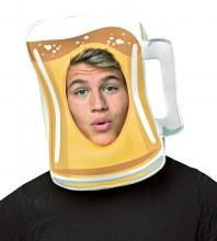 Beer Mug Open Face Mask