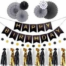 Birthday Garland Kit Black