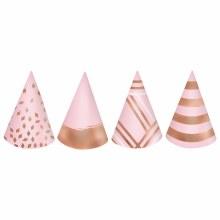 Blush Birthday Mini Cone Hats