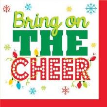 Bring On The Cheer Beverage Napkins ~ 16 Pack