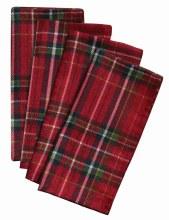Christmas Plaid Fabric Napkings ~ 4 Pack
