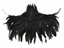 Collar Feathered DLX Black