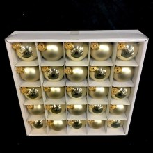 """Assorted Gold Glass Ornaments ~ 25 pack/1.75"""""""