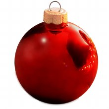 """Red Glass Ornaments ~ 8 Pack/2.6"""""""
