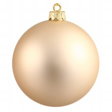"""Rose Gold Glass Ornaments ~ 8 Pack/2.6"""""""