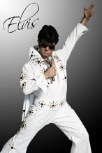Rental Elvis w/ Cape White Costume
