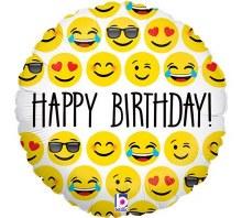 """18"""" Emoji Happy Birthday"""