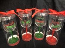 Christmas Humor Wine Glass ~ 1ct.