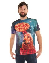 Pizza & Dog Shirt Lg